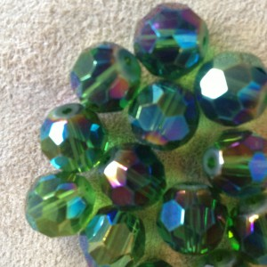 Glass, Green Faceted