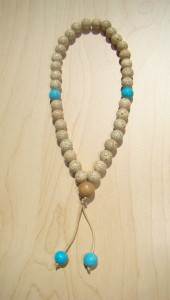 White Lotus Seed Hand Held Mala