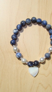 Sodalite Bracelet with Mother Of Pearl