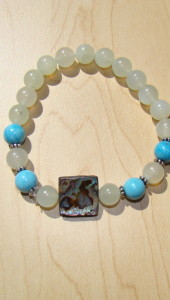 Serpentine Bracelet with Abalone