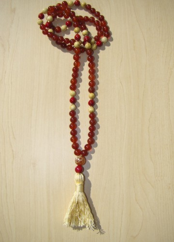 Carnelian w/ yellow jasper and coral