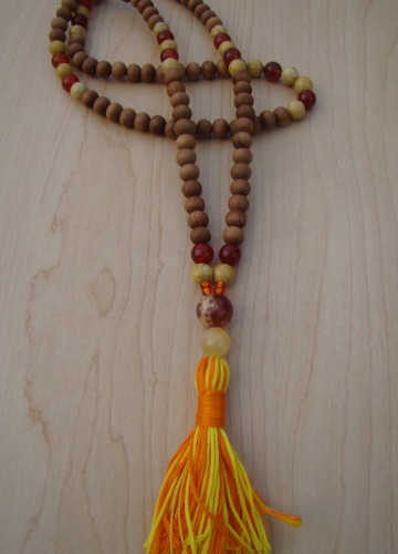 Sandalwood with Carnelian and Yellow Jasper