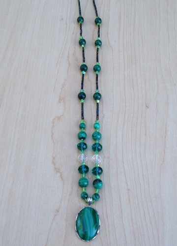 necklace malachite1